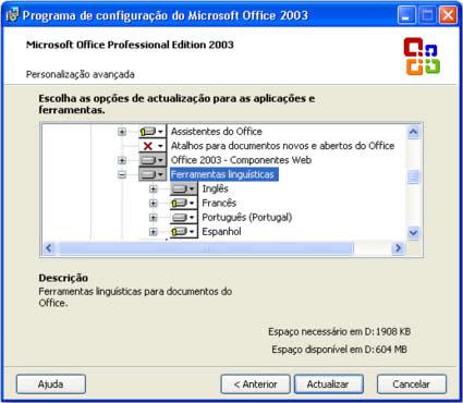 corretor ortografico portugues office 2007