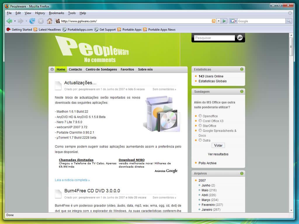 Portable Firefox 2 0 0 6 - Pplware