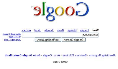 Google Invertido???