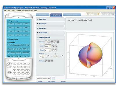 Microsoft Student Graphic Calculator