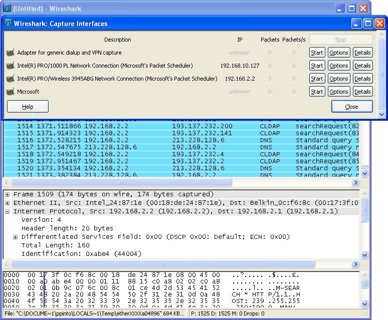 Wireshark for Windows 0 99 8 Beta - Pplware