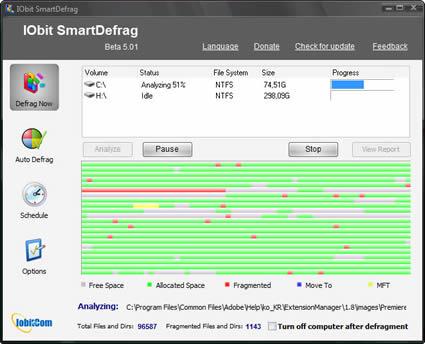 desfragmentador IObit SmartDefrag 6.00