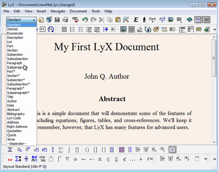 thesis mit lyx Lyx is a document processor that encourages an approach to writing based on the structure of your documents and not simply their appearance () lyx combines the power and flexibility of tex/latex with the ease of use of a graphical interface.