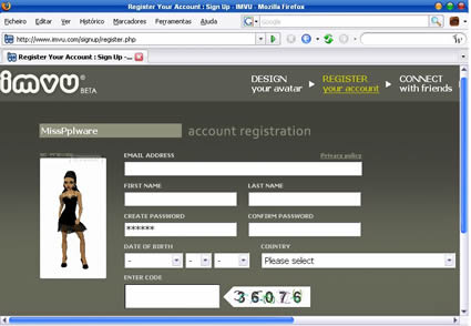 IMVU - graphical instantmessaging client - Pplware