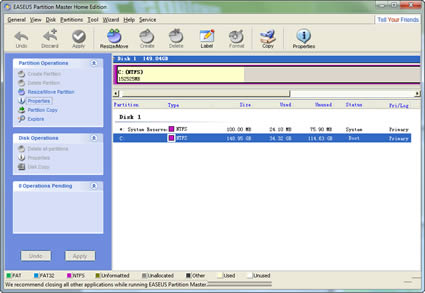 bdddc888dd EASEUS Partition Master 3.5 Home Edition