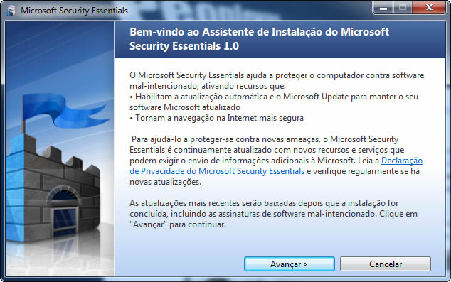Análise Microsoft Security Essentials 1 0 1611 0 - Pplware