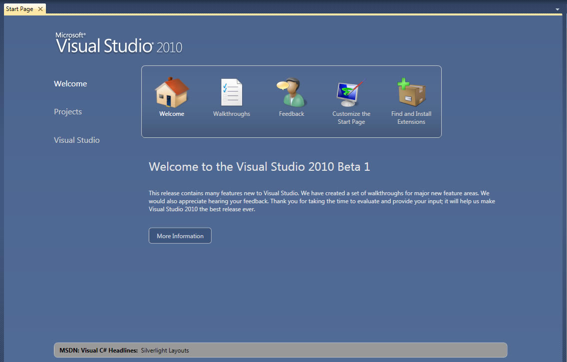 Microsoft Visual Studio 2010 - Pplware