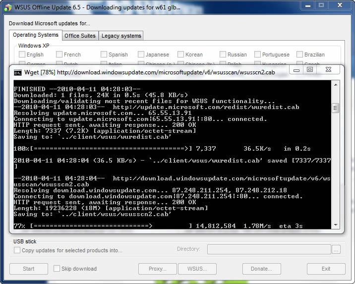 WSUS Offline Update 6 51 - Actualizações para o Windows
