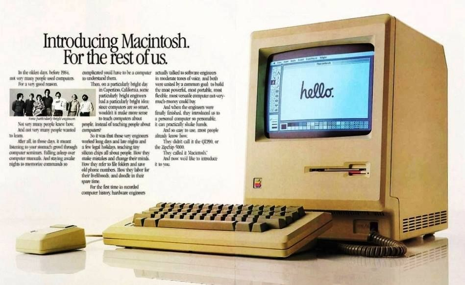 Imagem do Apple Macintosh de 1984