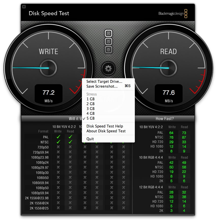 Blackmagic Disk Speed Test - Teste o disco do seu Mac - Pplware