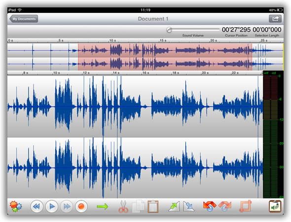 TwistedWave - Um super editor de áudio no seu iPad - Pplware