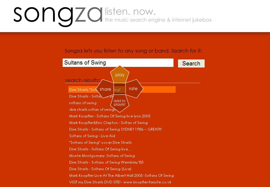 Songza, música no seu browser Songza