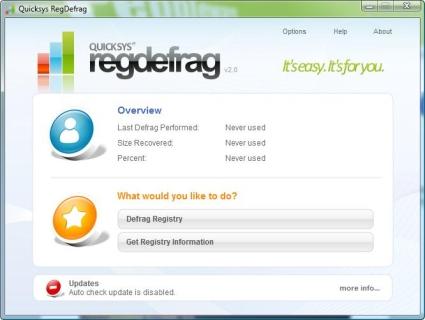 Quicksys RegDefrag 2.0