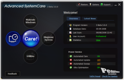 Advanced SystemCare 3 3 0 0 586 Final - Pplware