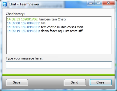 TeamViewer 4 - Chat