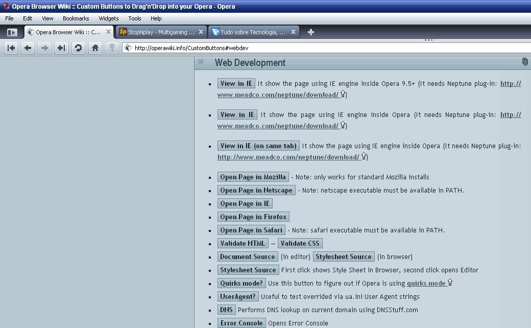 IE-Tab para Opera - Pplware