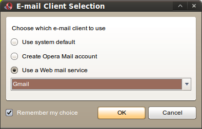 Opera 10 com Gmail