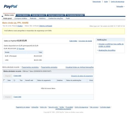 Paypal como criar uma conta pessoal parte 1 pplware suas perguntas e respostas de segurana com xito ento tenho o prazer de vos informar que j acabaram de criar a vossa conta de paypal com sucesso stopboris Gallery