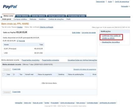 Paypal Associar Cartao De Credito Parte 4 Pplware