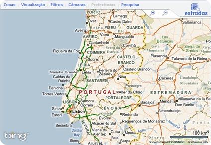 mapa de portugal estradas 2013 Portal de Trafego Rodoviário   estradas.pt   Pplware mapa de portugal estradas 2013