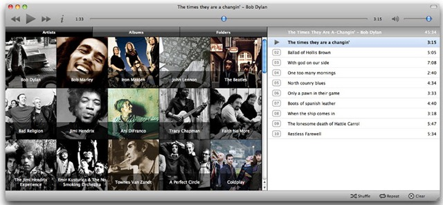 Minitunes - Jukebox para Mac e Linux - Pplware