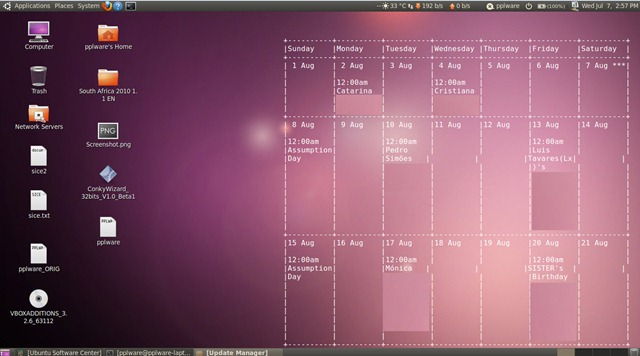 Google Calendar Wallpaper Ubuntu : Google calendar no desktop do ubuntu pplware