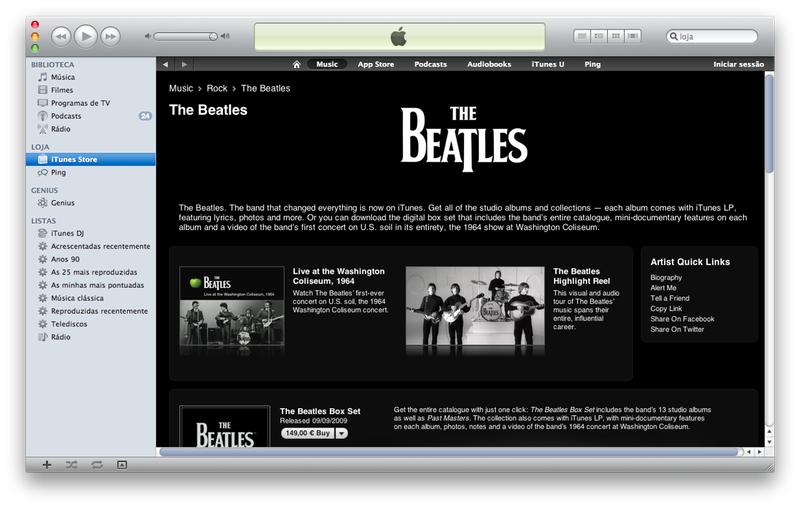 94dfb2dff91 Outros álbuns da discografia vasta dos Beatles encontram-se na iTunes Store  como Help!