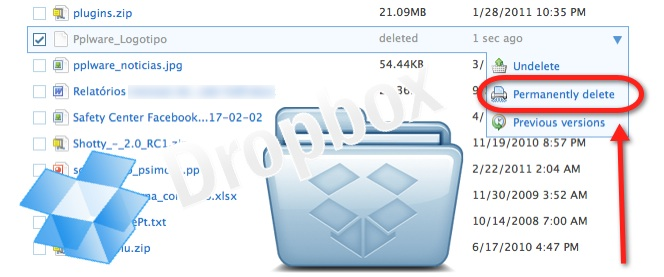 bce986d43e6 Dropbox- Elimine ficheiros de forma definitiva - Pplware