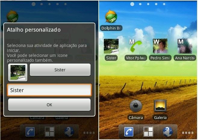 Any Cut – Crie atalhos na Home do Android…até de contactos
