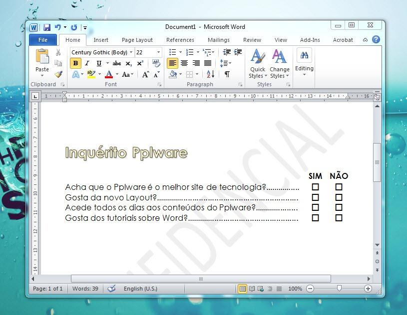 Na sequência das dicas que temos apresentado aqui no Pplware sobre o  Microsoft Word , uma colega contactou-me para saber se lhe podia dar uma  ajuda a fazer ... 96106a6a4c
