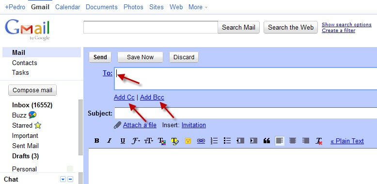 how to add bcc in outlook 2010