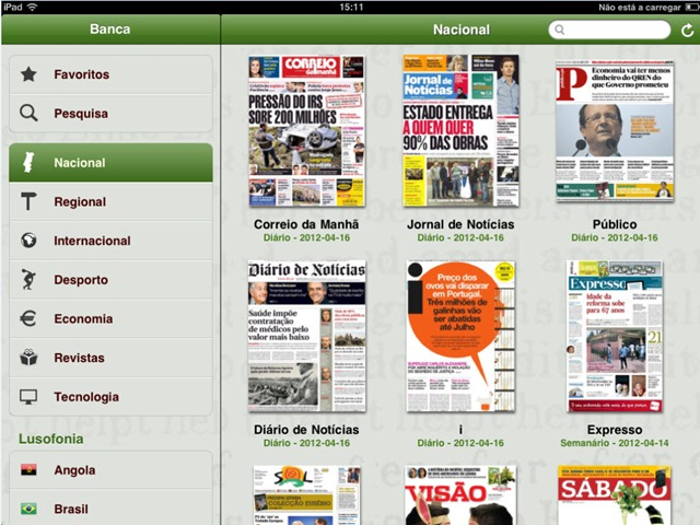 Banca De Jornais E Revistas Do Sapo No Android E Ios Pplware