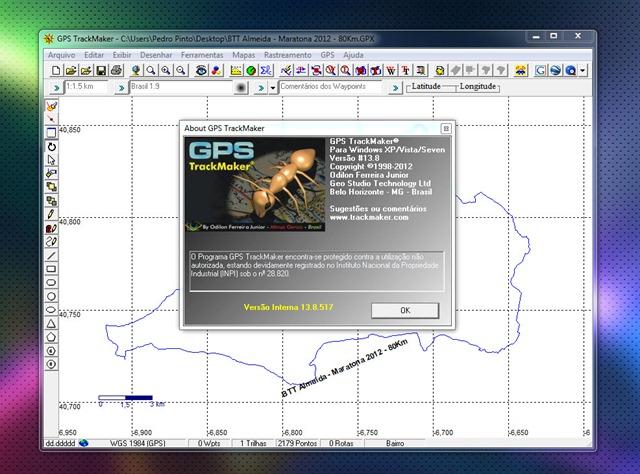 dados gps garmin trackmaker
