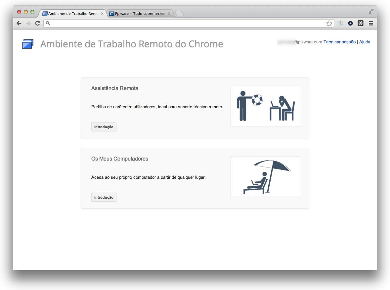 Google Chrome Remote Desktop - Chegou a versão final - Pplware