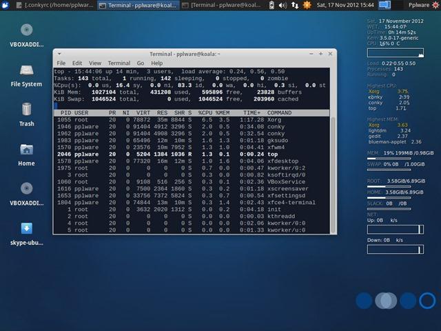 Dica - Aprenda a instalar o Conky no Ubuntu - Pplware
