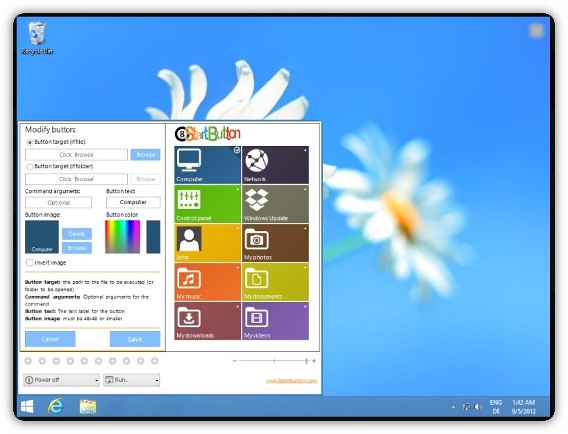 Windows 8 start menu button by munish83