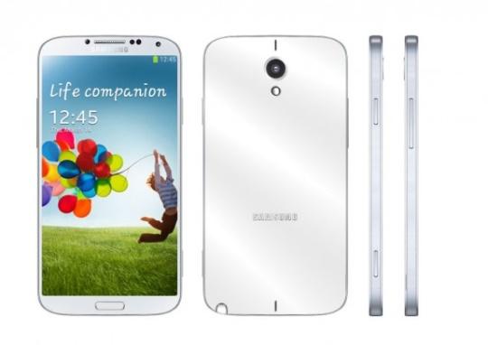 Conceito baseado no design do Galaxy S4 do Samsung Galaxy Note III em alumínio