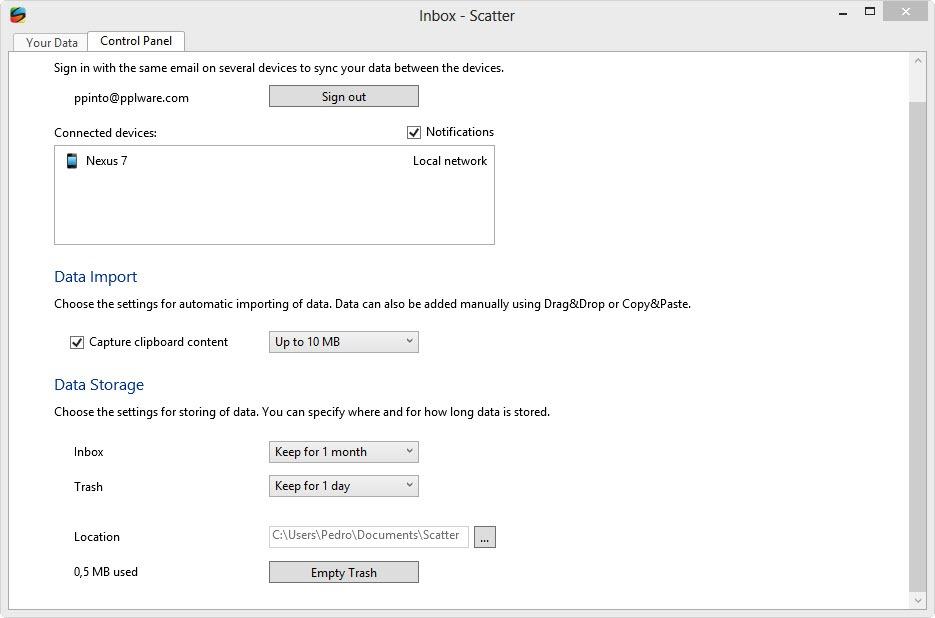 Scatter – Sincronização P2P de dados entre Android e PC - Pplware