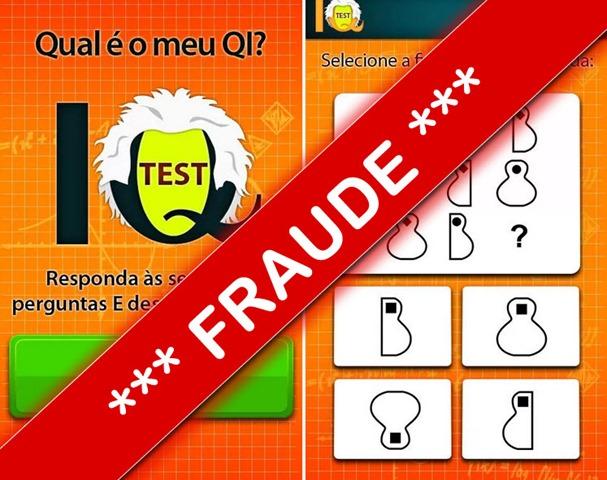 Chama-se IQ Test, é uma aplicação supostamente desenvolvida por um  programador português e, à primeira vista, trata-e de um pequeno quiz onde  o utilizador ... 766c472a73