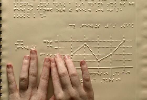 Hoje em dia, o código braille é o sistema padrão de leitura para invisuais.