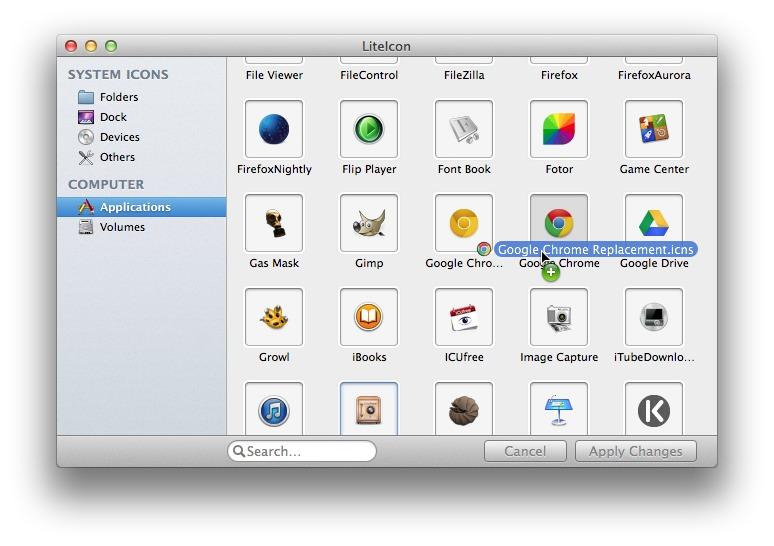 LiteIcon: Mude os ícones de aplicações e sistema no OS X