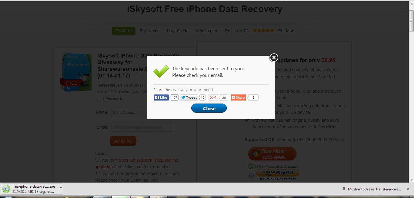 free iphone data recovery oferta iskysoft free iphone data recovery pplware 14150