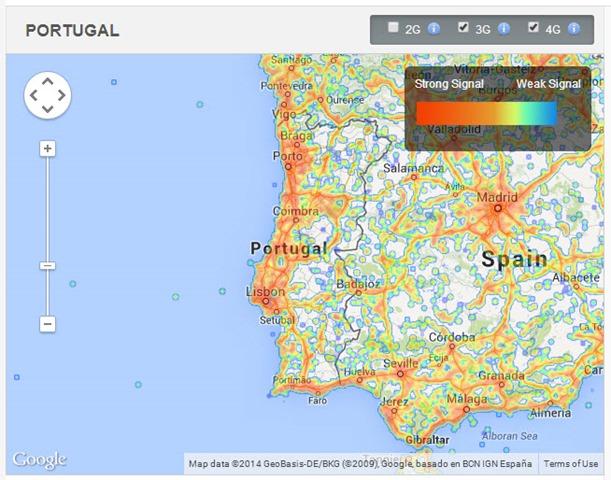 mapa cobertura 4g portugal Quais as velocidades 3G/4G da TMN, Optimus e Vodafone?   Pplware mapa cobertura 4g portugal