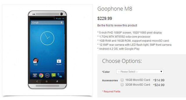 Goophone M8 – O clone do novo HTC One por 166€ - Pplware