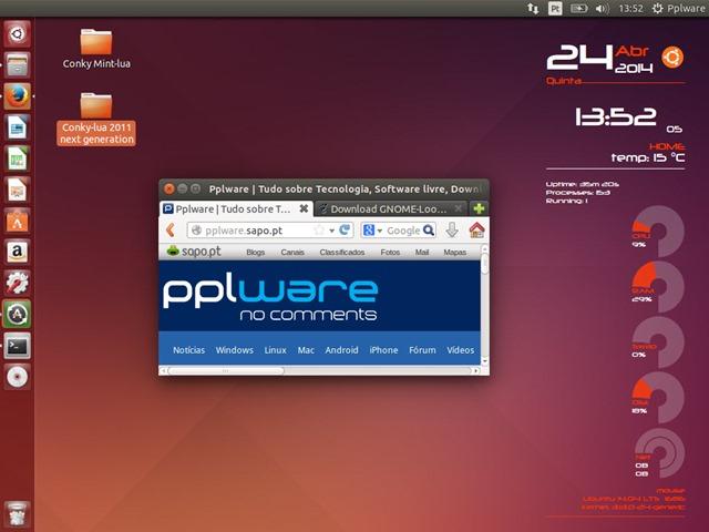 Conky Lua – Um Desktop no Ubuntu de fazer inveja - Pplware