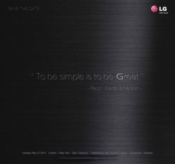 Convite para o evento da LG enviado à imprensa.