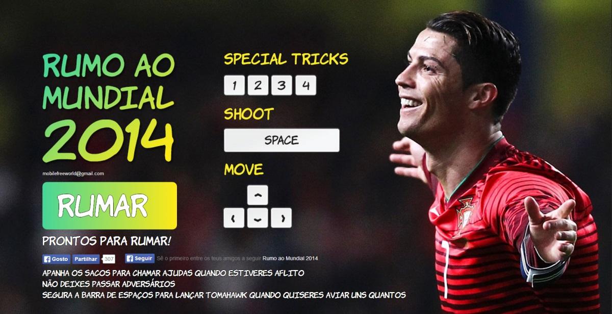 32fff326ad Durante o jogo podemos controlar o Cristiano Ronaldo e destruir os vários  adversários (outros jogadores presentes no campeonato do mundo) que vão  aparecendo ...