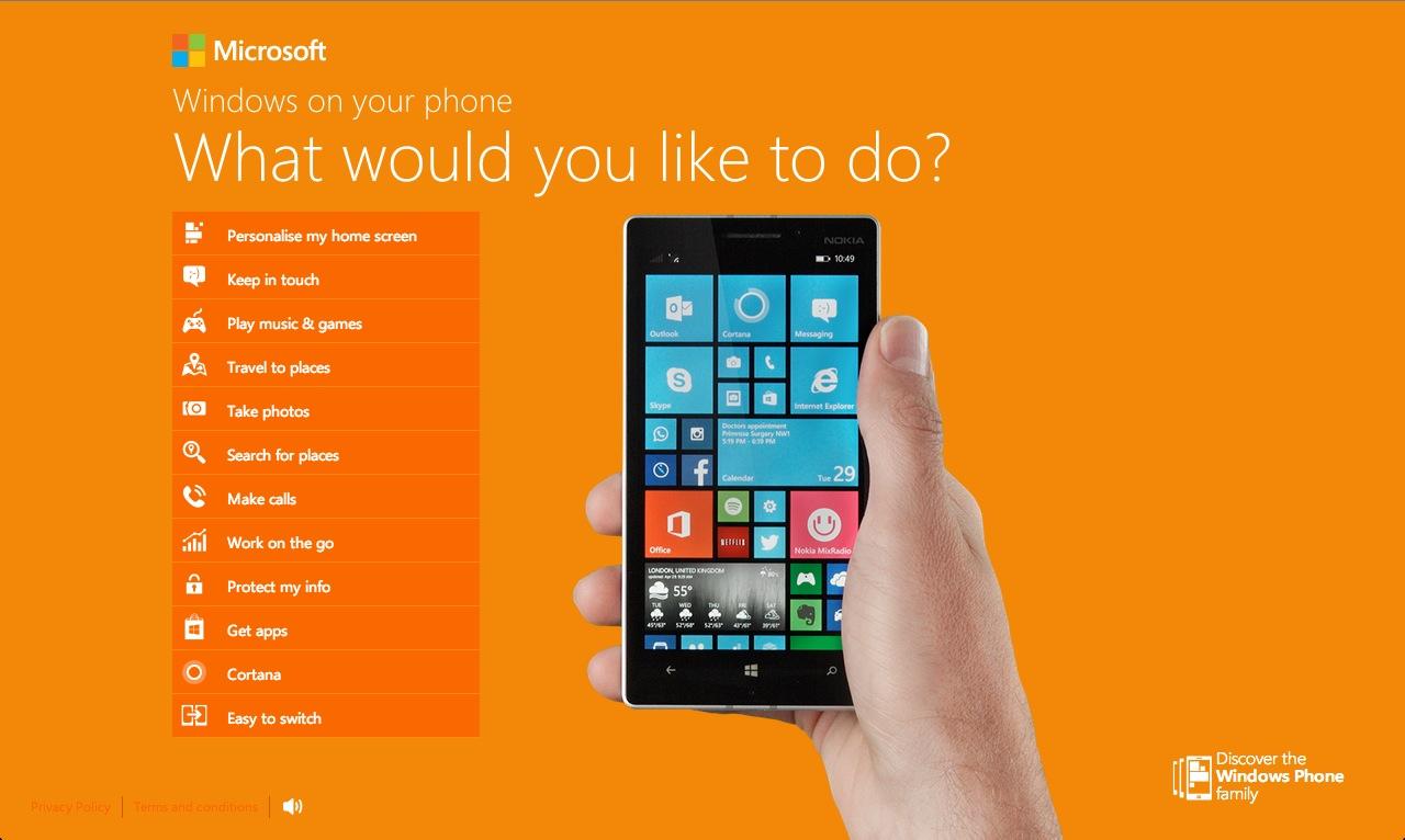 ef306ee717aa1 Porque o Windows Phone 8.1 pode atrair novos utilizadores, a Microsoft  tratou de ter uma secção especifica e dedicada à migração de outros  sistemas.