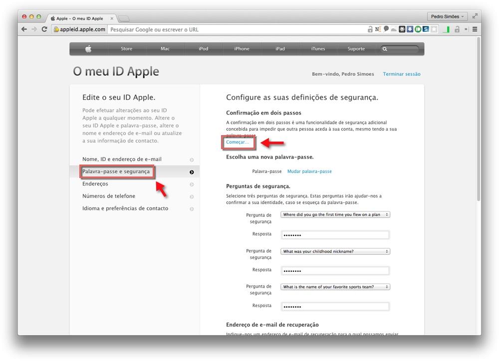 7380d2065b174 É então pedido que confirmem que querem mesmo activar a confirmação em dois  passos para o vosso ID Apple. Este processo apenas avança se carregarem no  botão ...