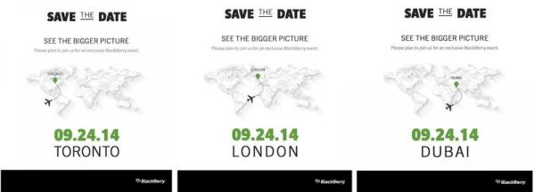 Convite para o evento de apresentação do aguardado BlackBerry Passport.